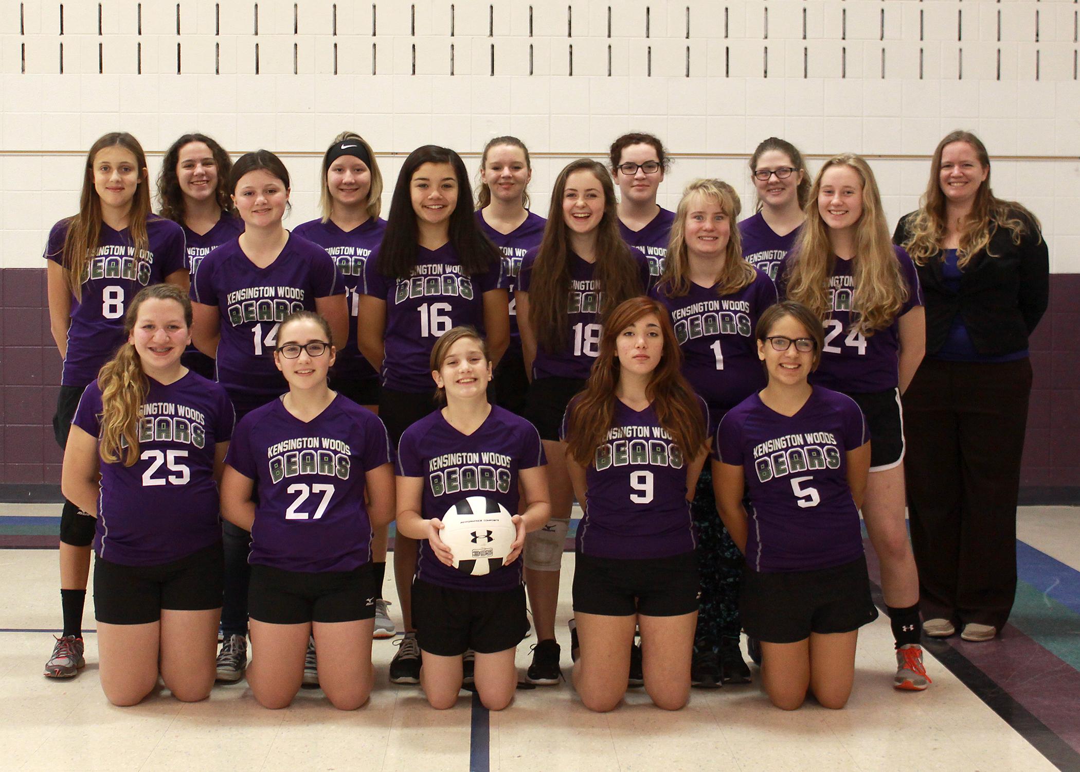 Kensington Woods Schools Girls Volleyball, 2016