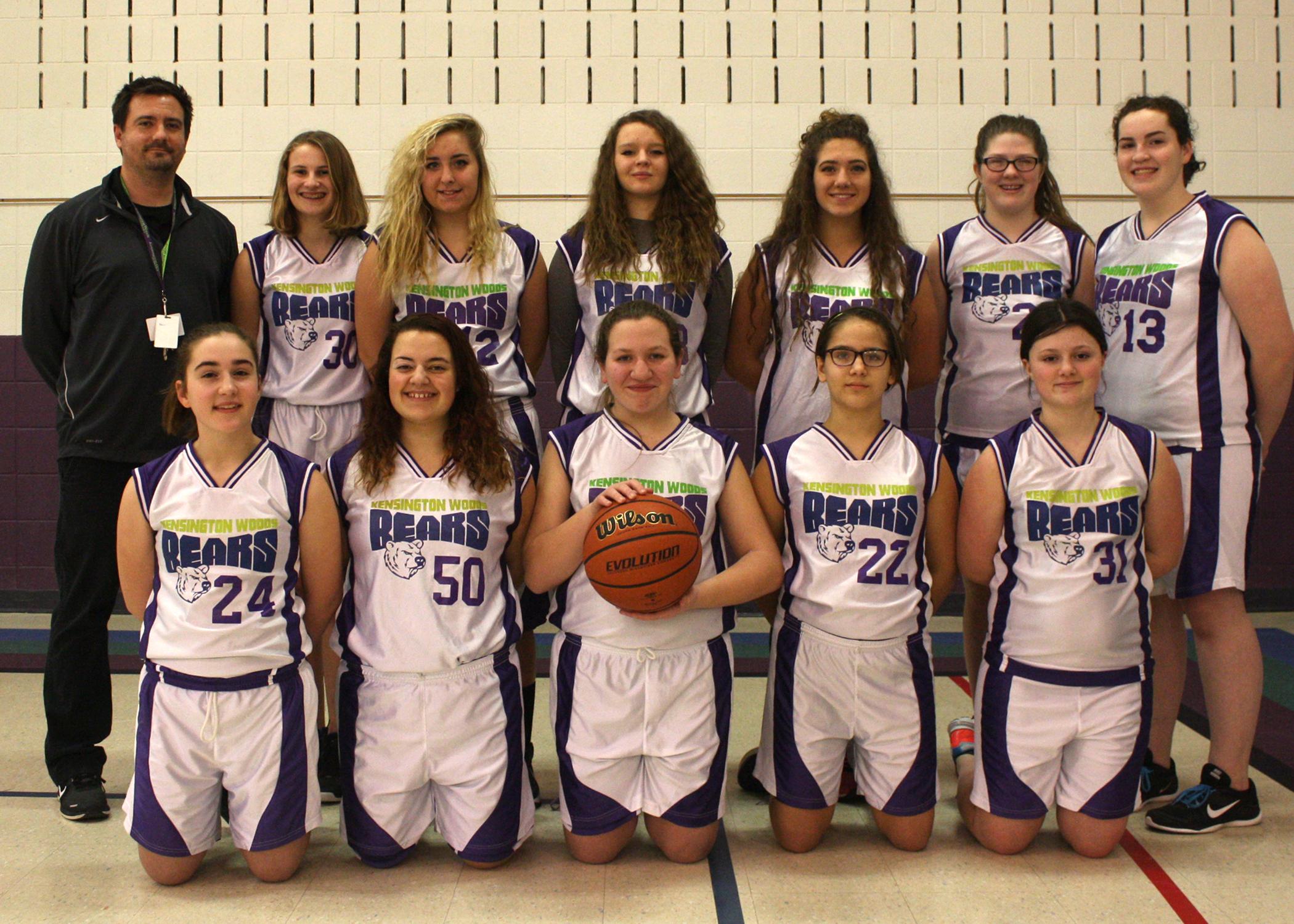 Kensington Woods Schools Girls Basketball, 2016-2017