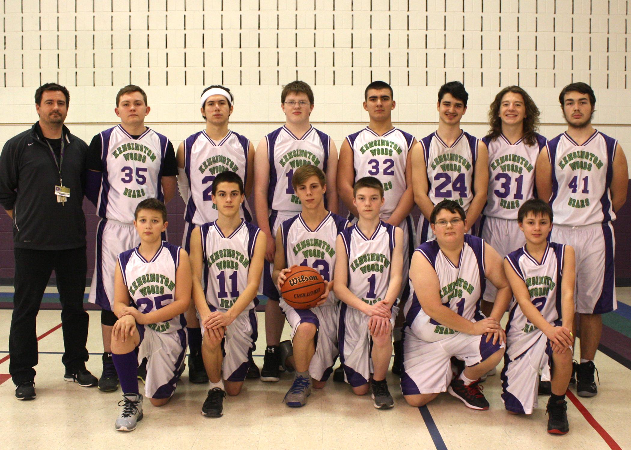 Kensington Woods Schools Boys Basketball, 2016-2017