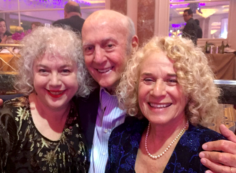 WITH CAROLE KING. (THE HANDSOME GUY BETWEEN US IS MY DAD.)