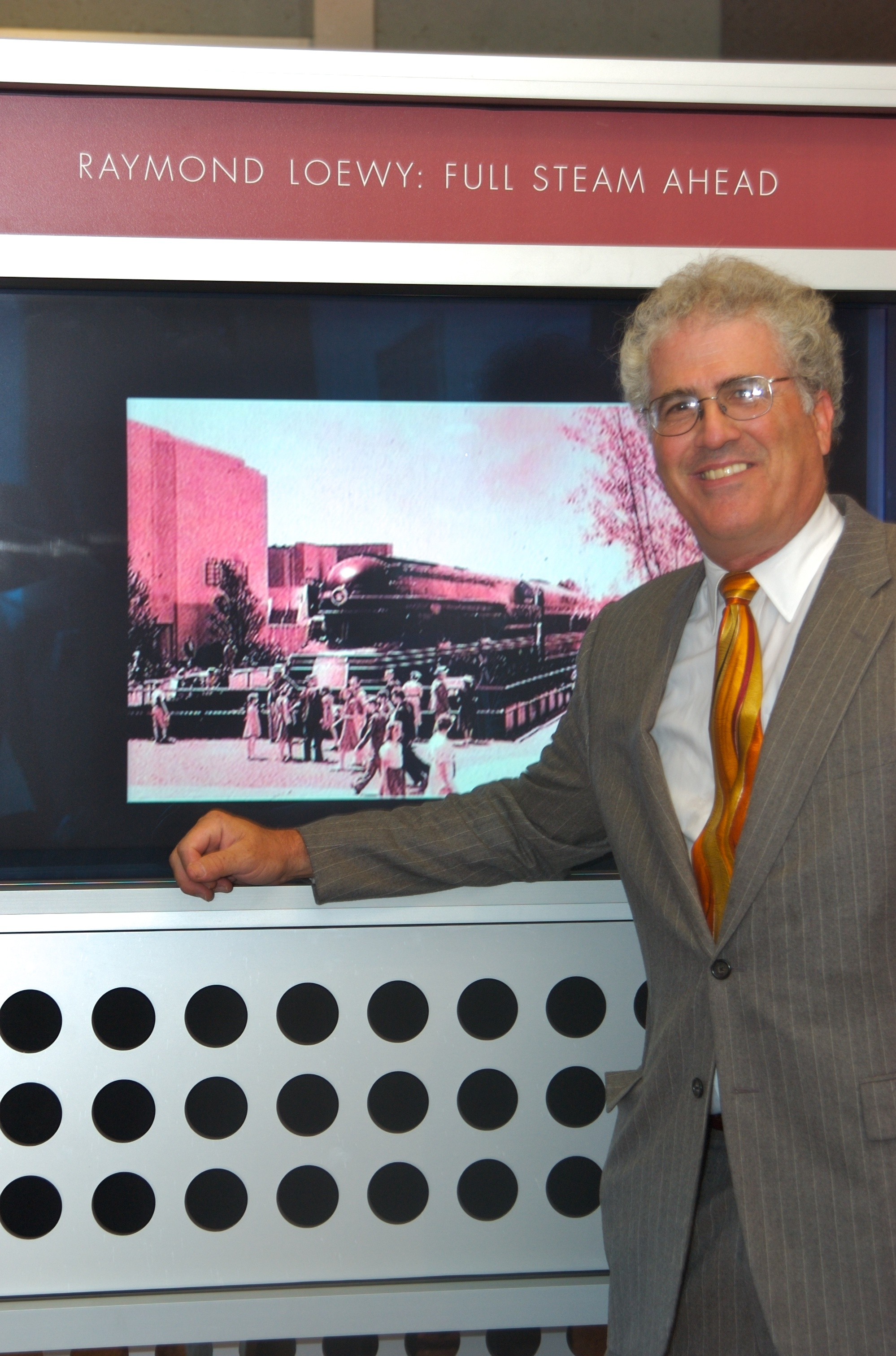 Ross at the opening of the film Raymond Loewy Loved locomotives