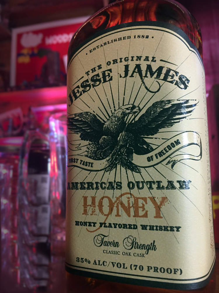Jesse James Honey Flavored Whiskey