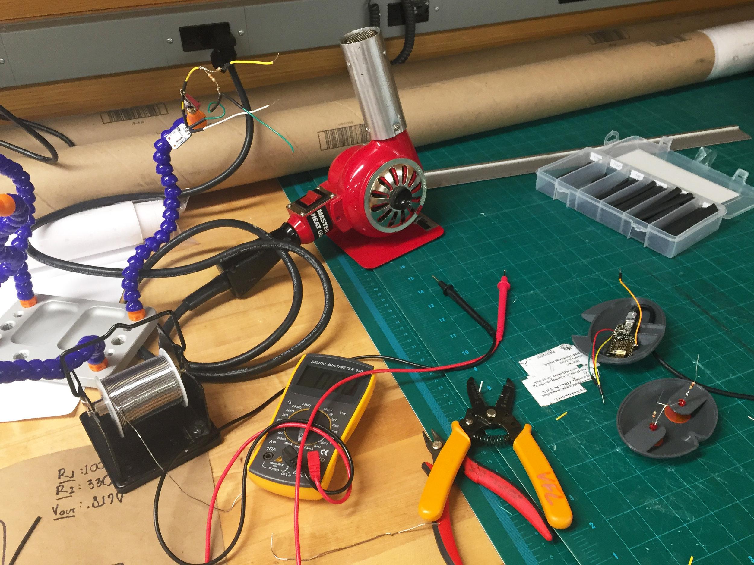 soldering internal circuitry