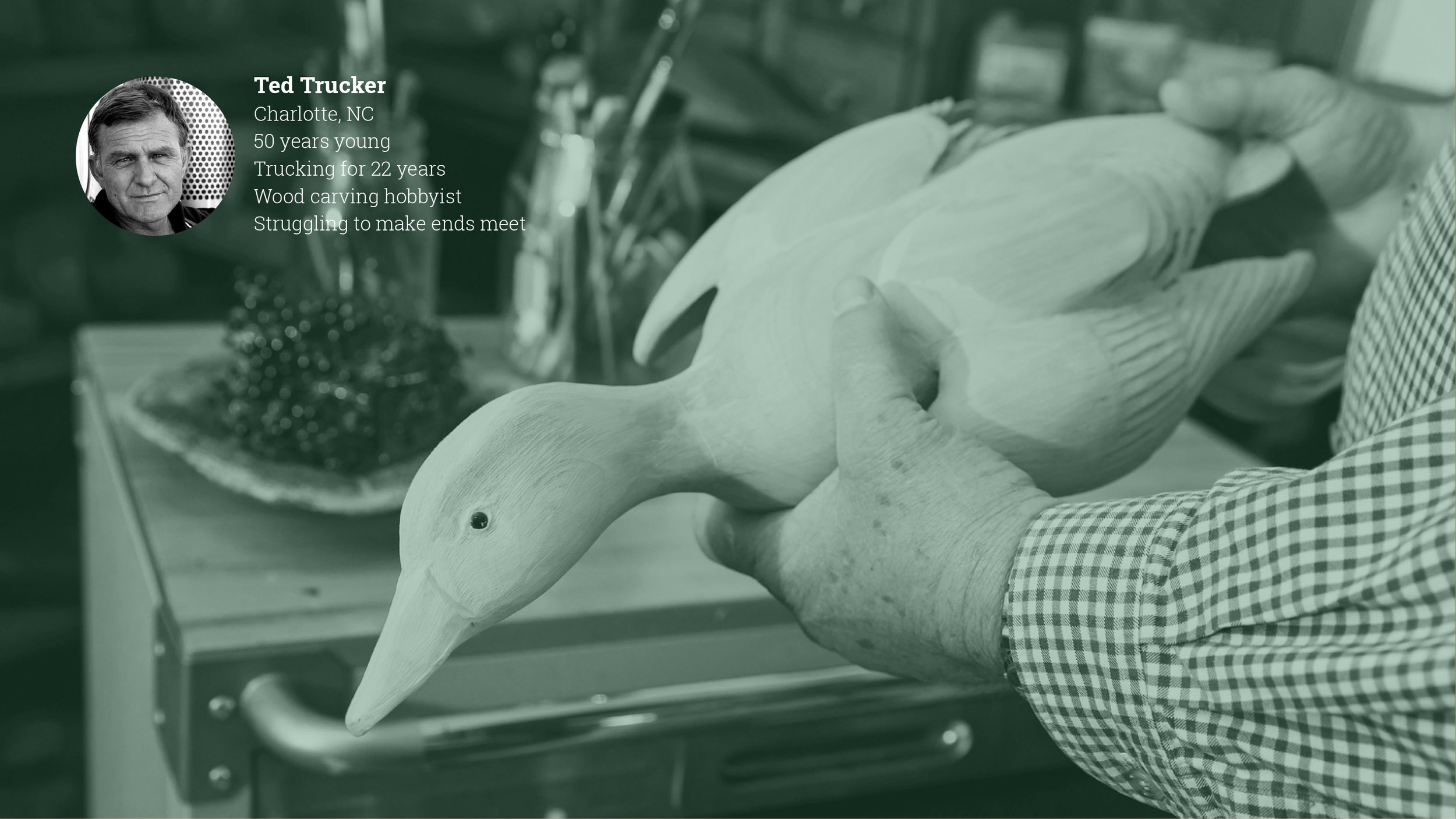 Ted Trucker is a duck decoy carving maestro — when his hands aren't on the steering wheel.