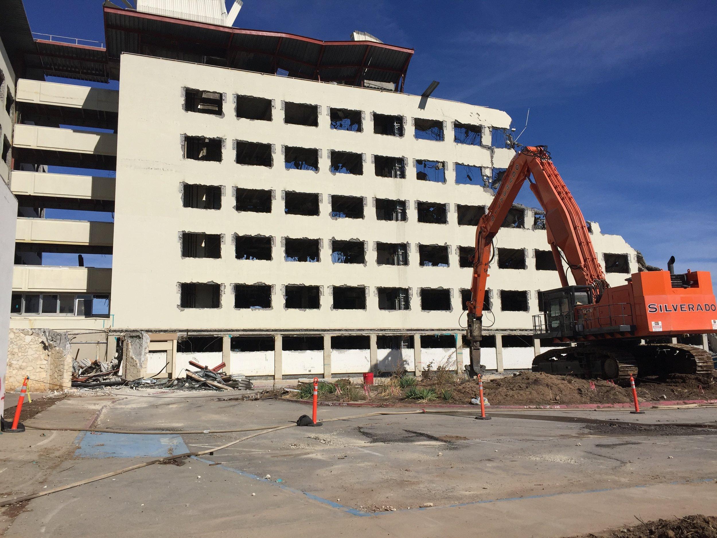 Demolishing the whole building...