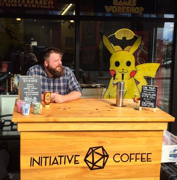 Initiative Coffee Company, partnering with Chimera's Comics in La Grange for Small          Business Saturday