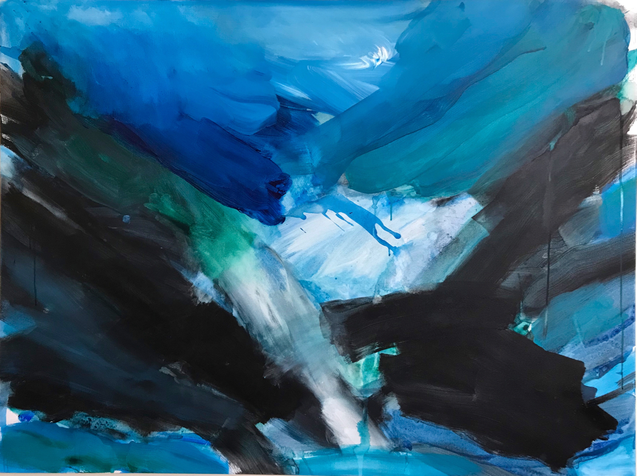 WANDERING THROUGH CHANGE - Abstract Paintings by Caroline Wampole  AUGUST 1 - SEPTEMBER 30, 2018at Bread Euphoria Bakery and CafeHaydenville, MAOpening Reception Thursday August 9th, 5 to 8 pm