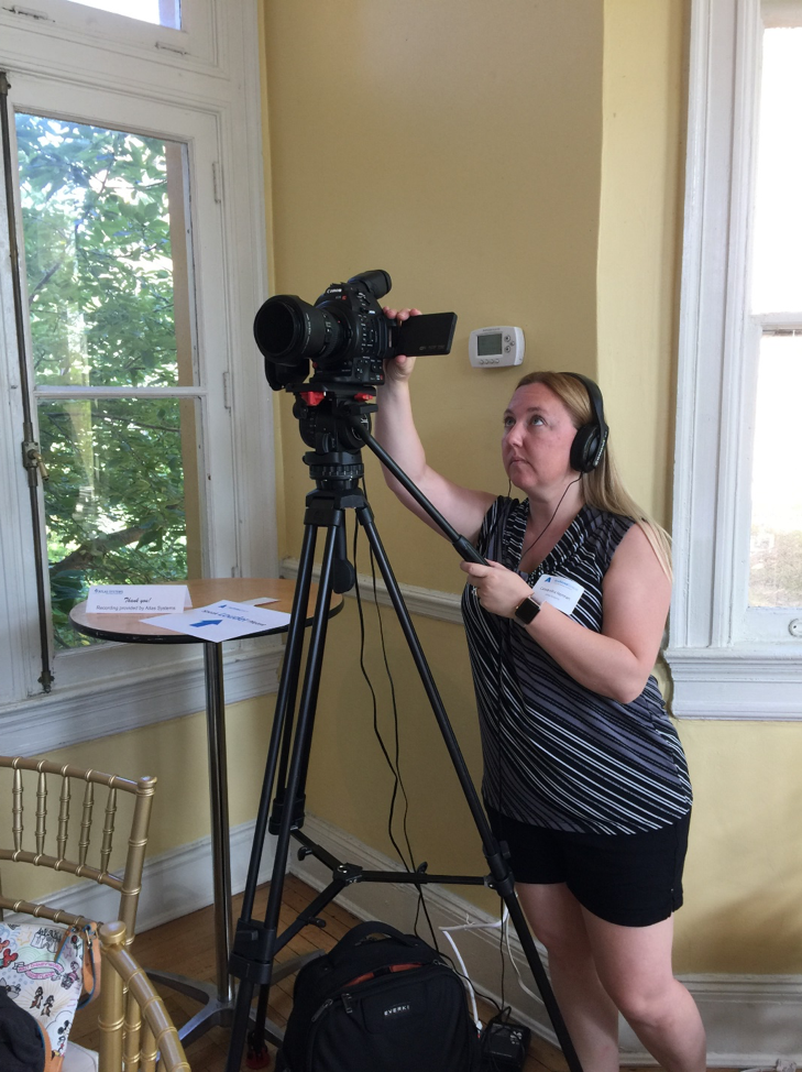 Cassandra Norman, Content Manager and Videographer, Atlas Systems - Photo by Anne Marie Lyons