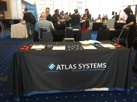 Atlas table at ATLA. Photo by Anne Marie Lyons