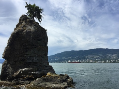 Siwash Rock, Stanley Park, Vancouver, BC. Photo by Anne Marie Lyons