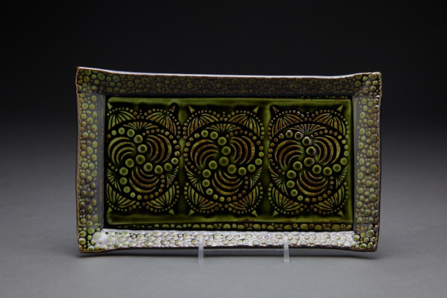 6x8 in. forest green glaze