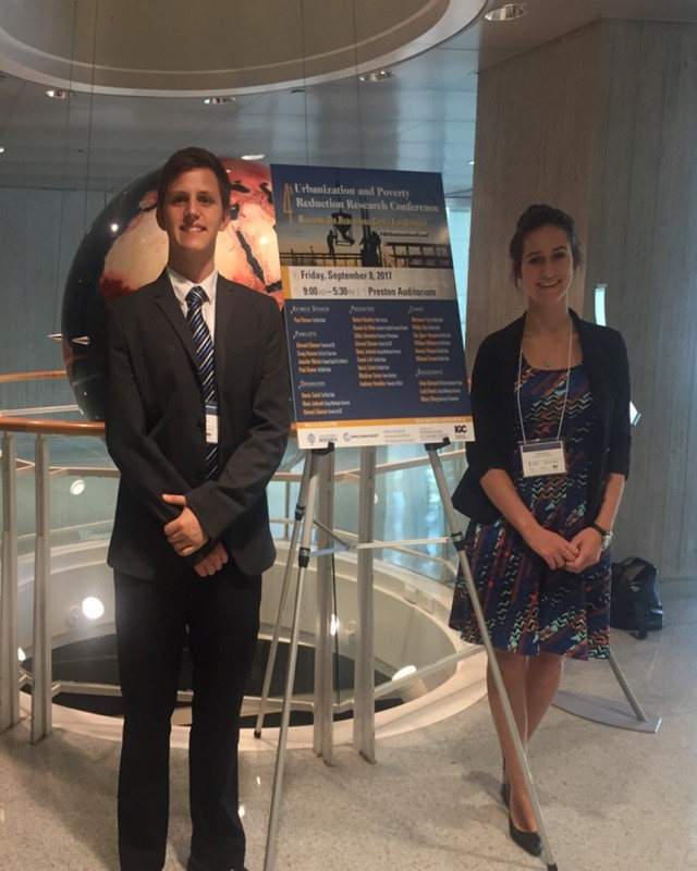 Allison and Jonathan at the 4th Annual Urbanization and Poverty Reduction Research Conference