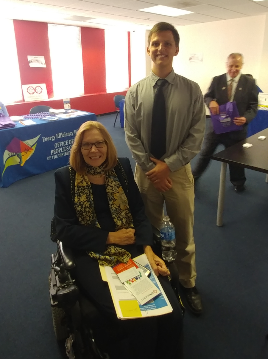 Jonathan with Jennifer Sheehy, the Deputy Assistant Secretary for the Office of Disability Employment Policy in the U.S. Department of Labor