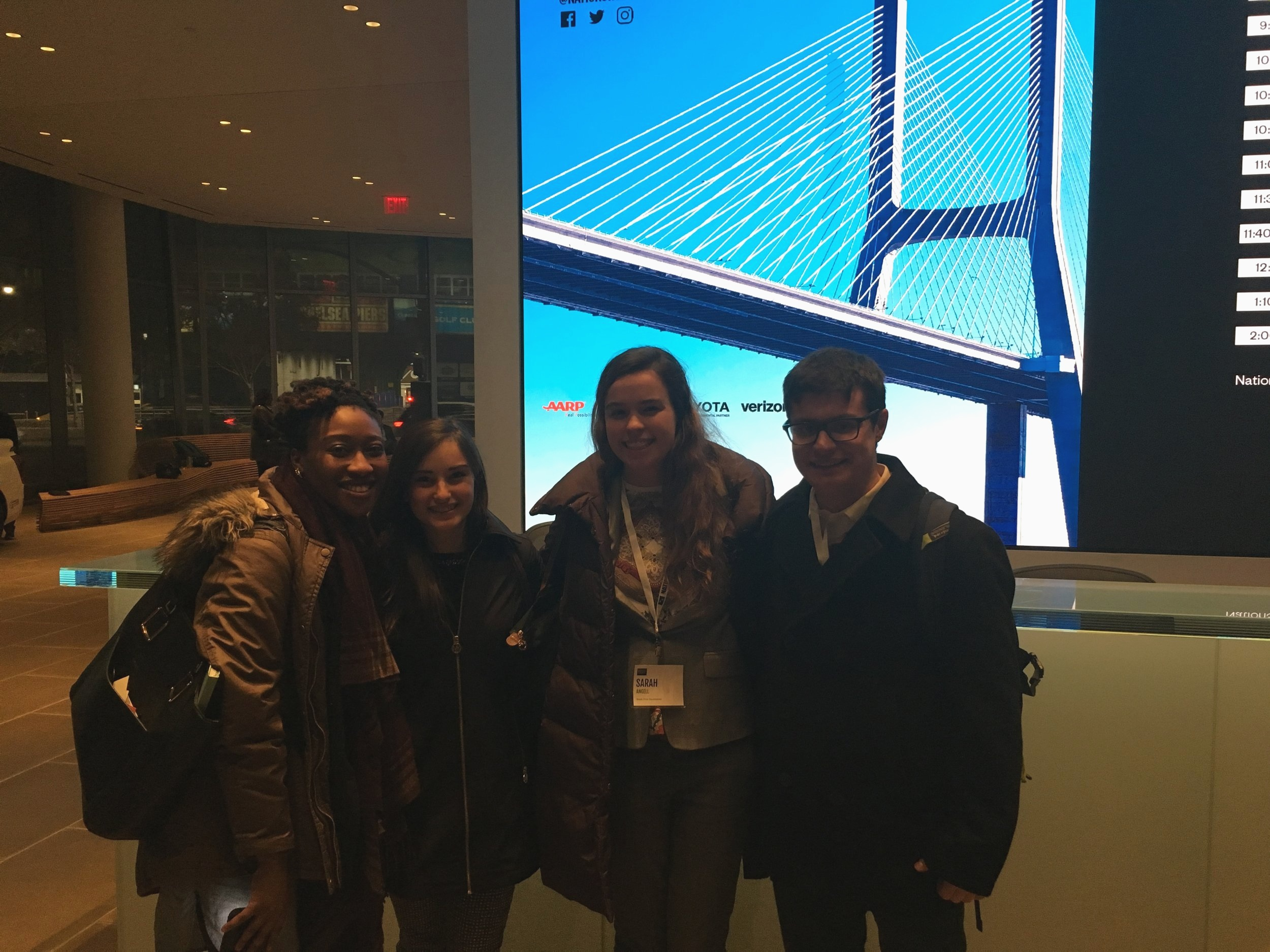 Fellows at Nationswell. From left: Courtney Smith, Ilana Fitzpatrick, Sarah Angell, and Patrick Smith.