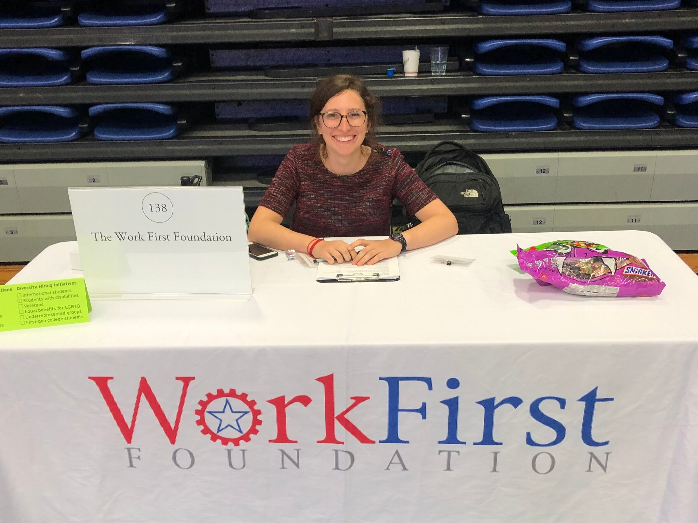 Ally, our Washington D.C. Fellow, spent the day meeting students at the American University Career Fair