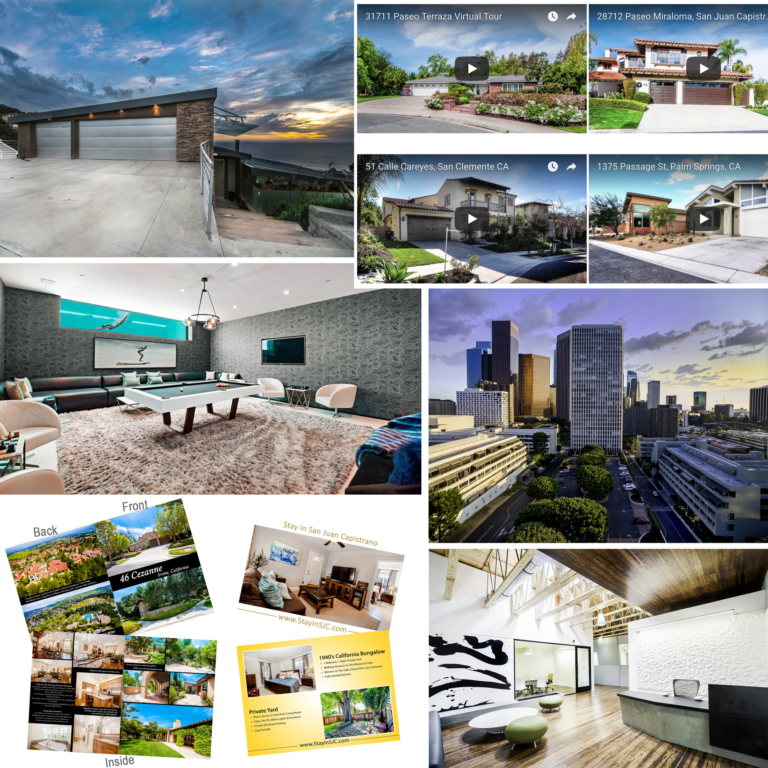 Real Estate Media Portfolios - > Residential> Twilight> Commercial> Aerial Photography & Video> Virtual Tours> Virtual Staging> Brochures> Custom Facebook Property Pages & Ads