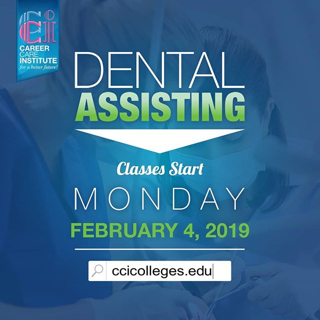 Only 2 weeks left to enroll in our Dental Assisting program 👉Starting next month, February 4, 2019!👈 . . Please visit our website for more information at https://www.ccicolleges.edu/admissions-requirements/ or call us at (661) 418-5860- Lancaster Campus (805) 804-9119- Oxnard Campus • • #medicalassisting #dentalassisting #dental #medical #vocationalschool #vocationalnursing #vocationaltraining #nursingschool #nursingstudent #nursingstudents #lancaster #santaclaritavalley #santaclarita #scv #ventura #venturacounty #palmdale #palmdaleca #oxnard #oxnardca #antelopevalley #antelopvalleylife #lancaster #lancasterca #medicalfield #medicalschool #medicalstudent #AVnursesrock #ccicolleges #forabetterfuture