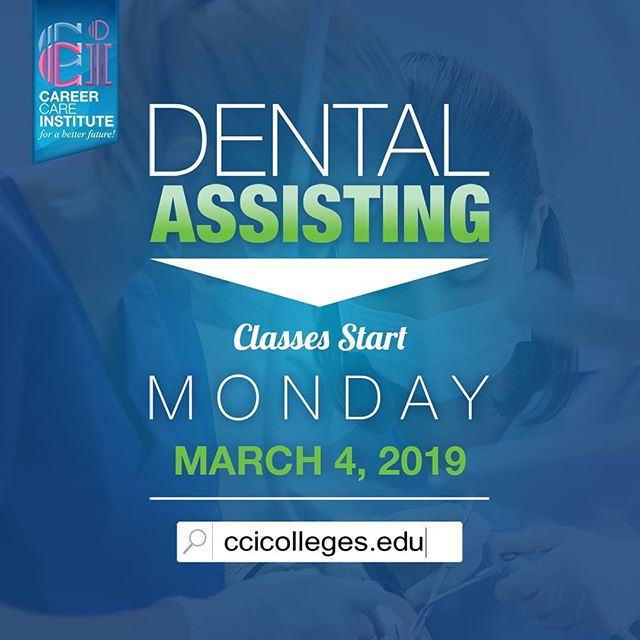 Don't miss out on your chance to enroll in our Dental Assisting program 👉Starting next month,  March 4, 2019!👈👉 . . Please visit our website for more information at https://www.ccicolleges.edu/admissions-requirements/ or call us at (661) 418-5860- Lancaster Campus (805) 804-9119- Oxnard Campus • • #medicalassisting #dentalassisting #dental #medical #vocationalschool #vocationalnursing #vocationaltraining #nursingschool #nursingstudent #nursingstudents #lancaster #santaclaritavalley #santaclarita #scv #ventura #venturacounty #palmdale #palmdaleca #oxnard #oxnardca #antelopevalley #antelopvalleylife #lancaster #lancasterca #medicalfield #medicalschool #medicalstudent #AVnursesrock #ccicolleges #forabetterfuture