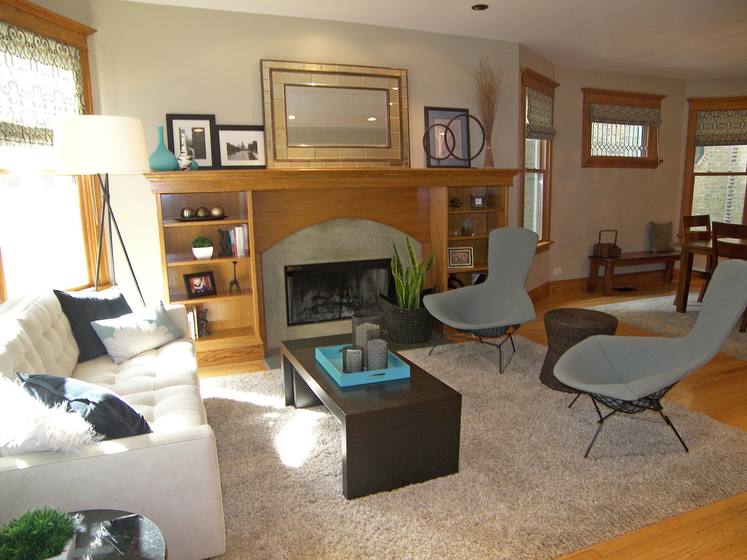 Wendy Nobriga ASID Chicago IL North Center Living Room