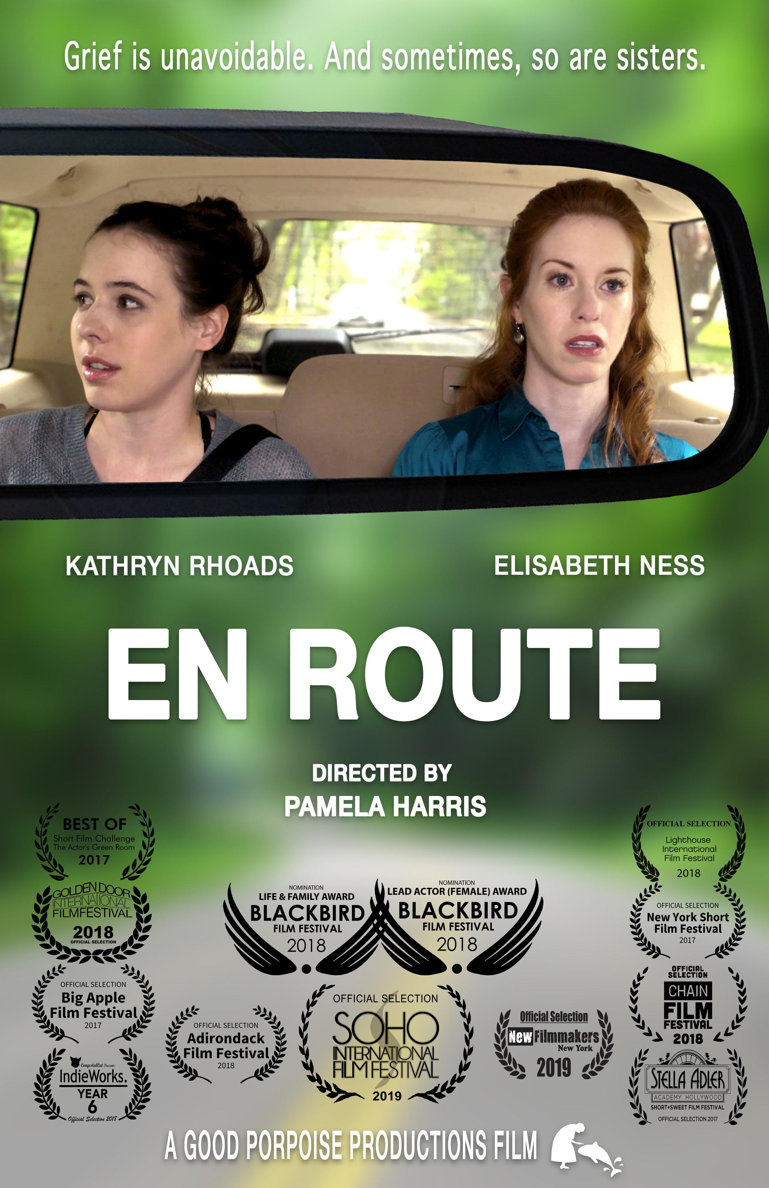 En Route Poster with Laurels