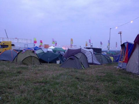 Bestival campsite