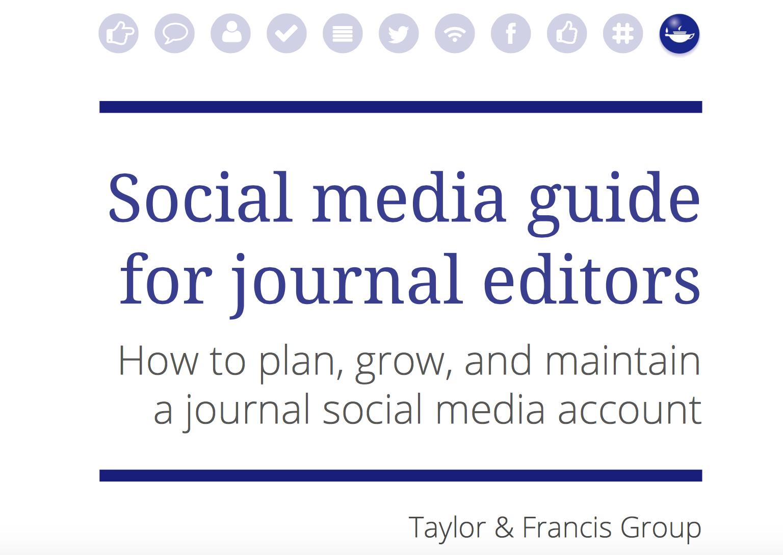 Social media guide for journal editors