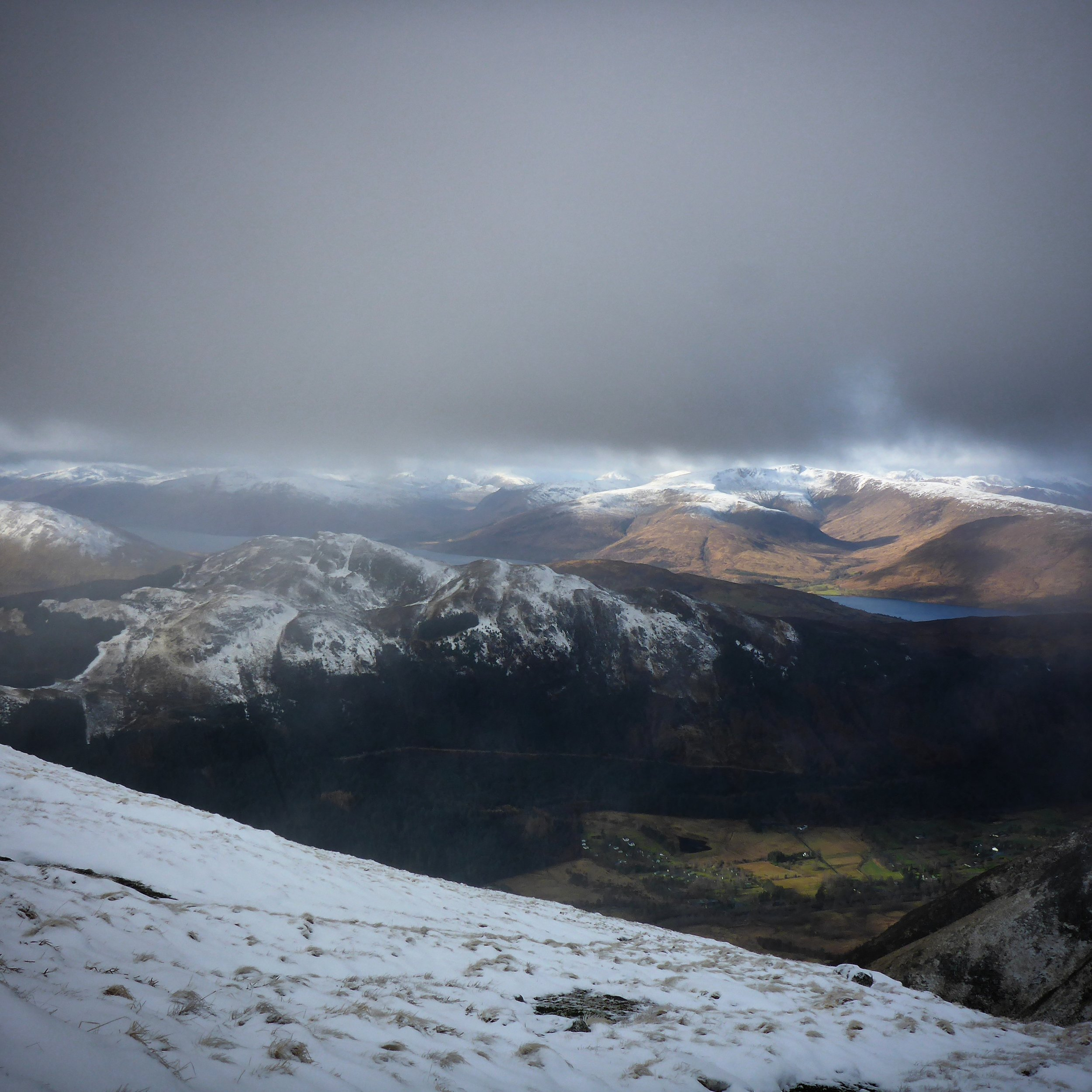 Great views from below the cloudbase on Ben nevis.