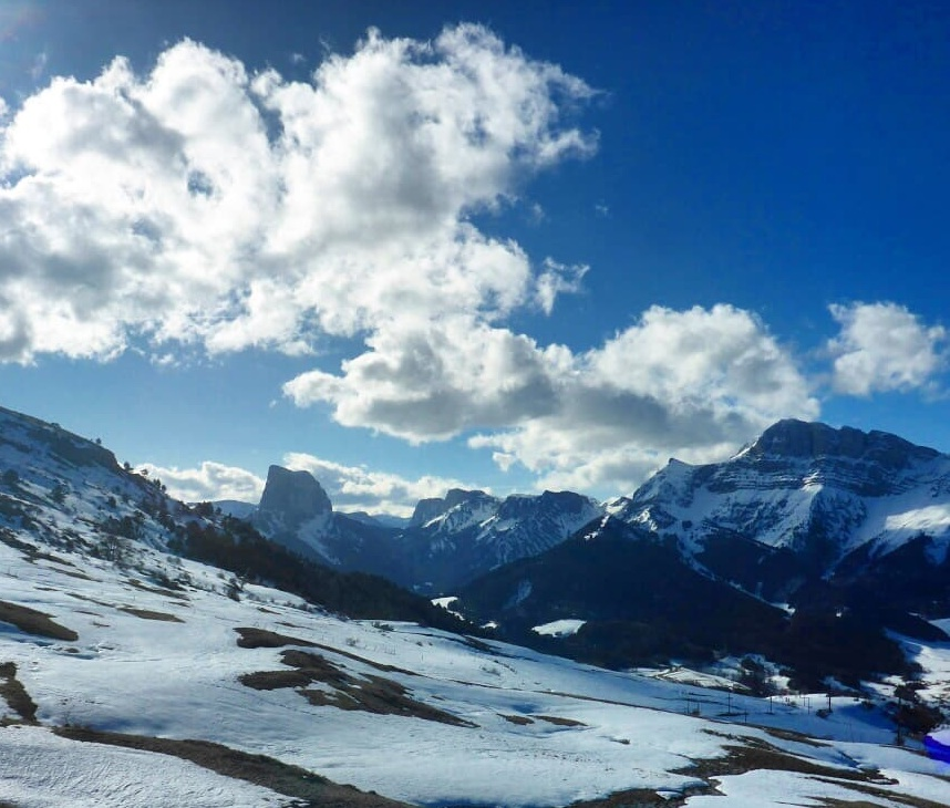 Great views from the Montagne de Gresse on Saturday.