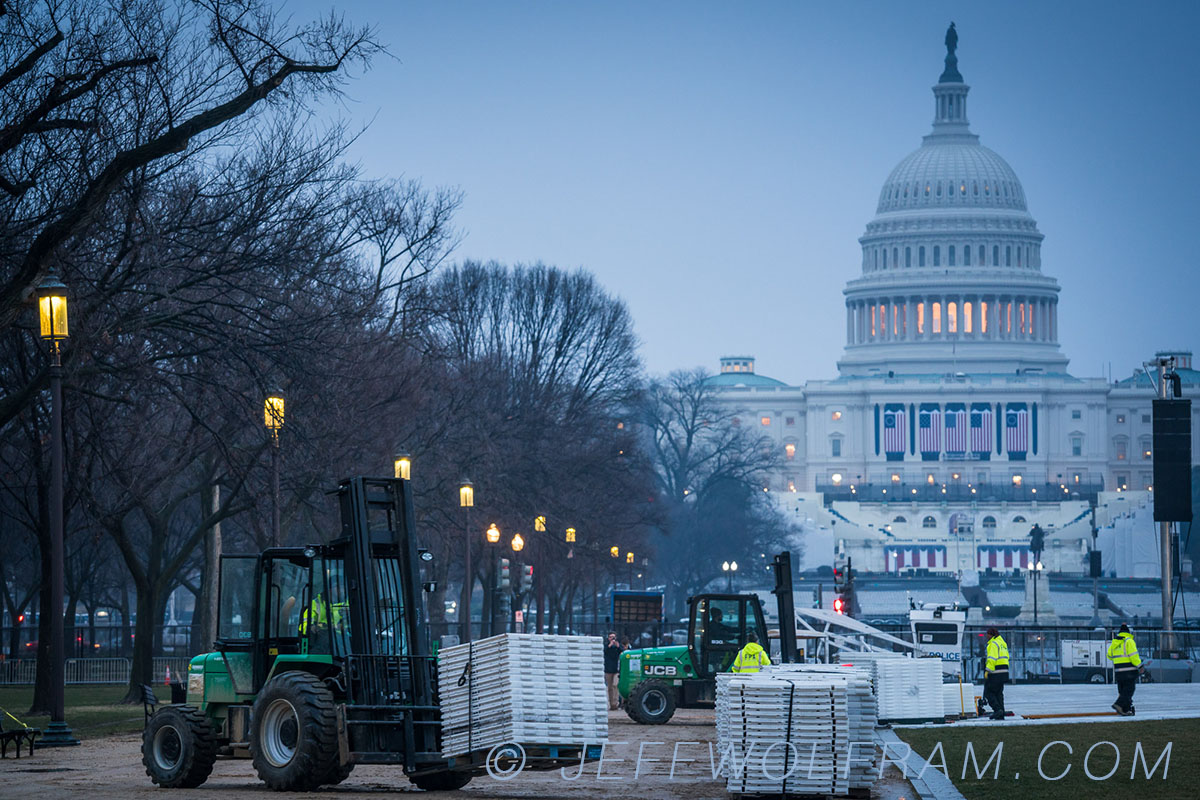 Construction photograph of a National event taking place in Washington DC, photographed by Architectural Photographer Jeff Wolfram