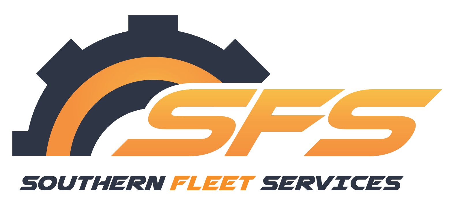 The final logo selected by the client. It incorporates tire, cog, and sunset imagery, as well as the orange tones and a contrasting steel gray/blue.