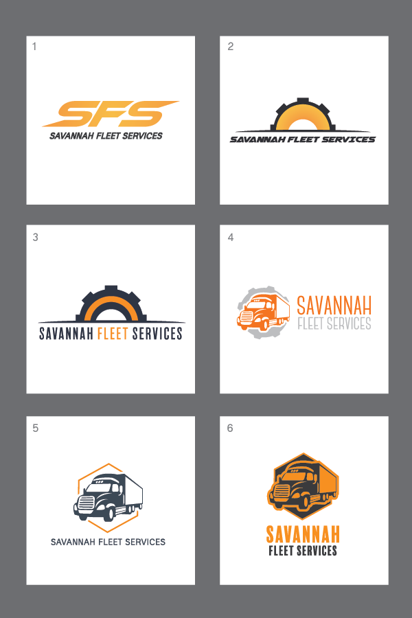 Original logo concepts for SFS.