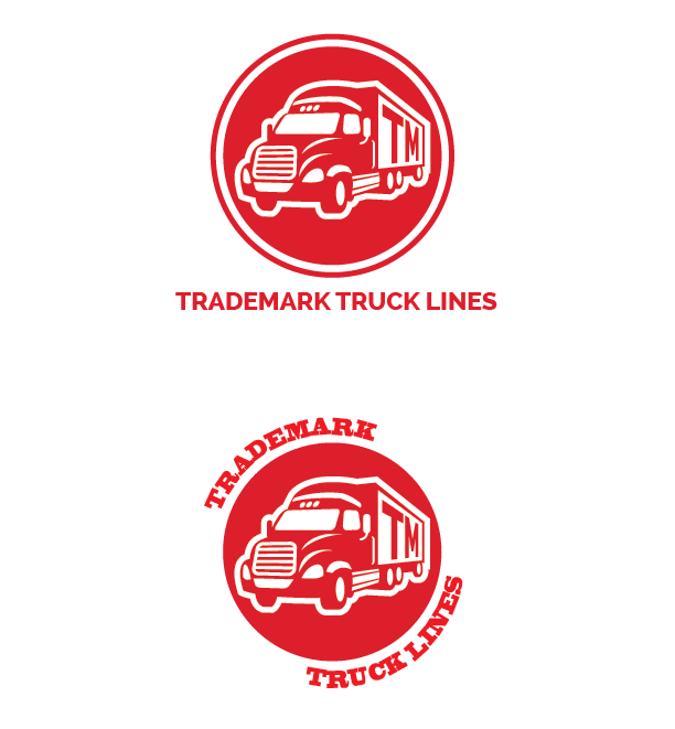 A few original concepts for the Trademark Truck Lines logo.