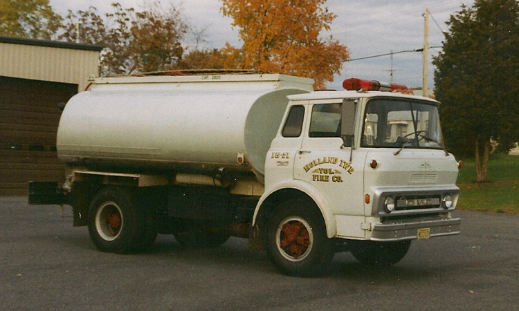 "Our tanker was a converted oil truck know a ""Snowball""."