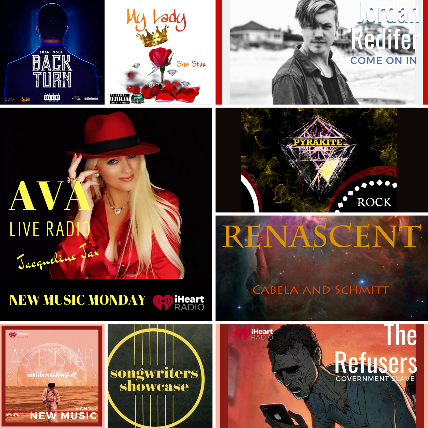6.17 New Music Monday with Jacqueline Jax on AVA Live Radio Mixed Genre Playlist.png