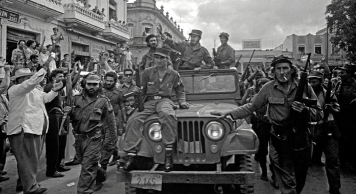 Castro Enters Havana Victorious Jan 8, 1959