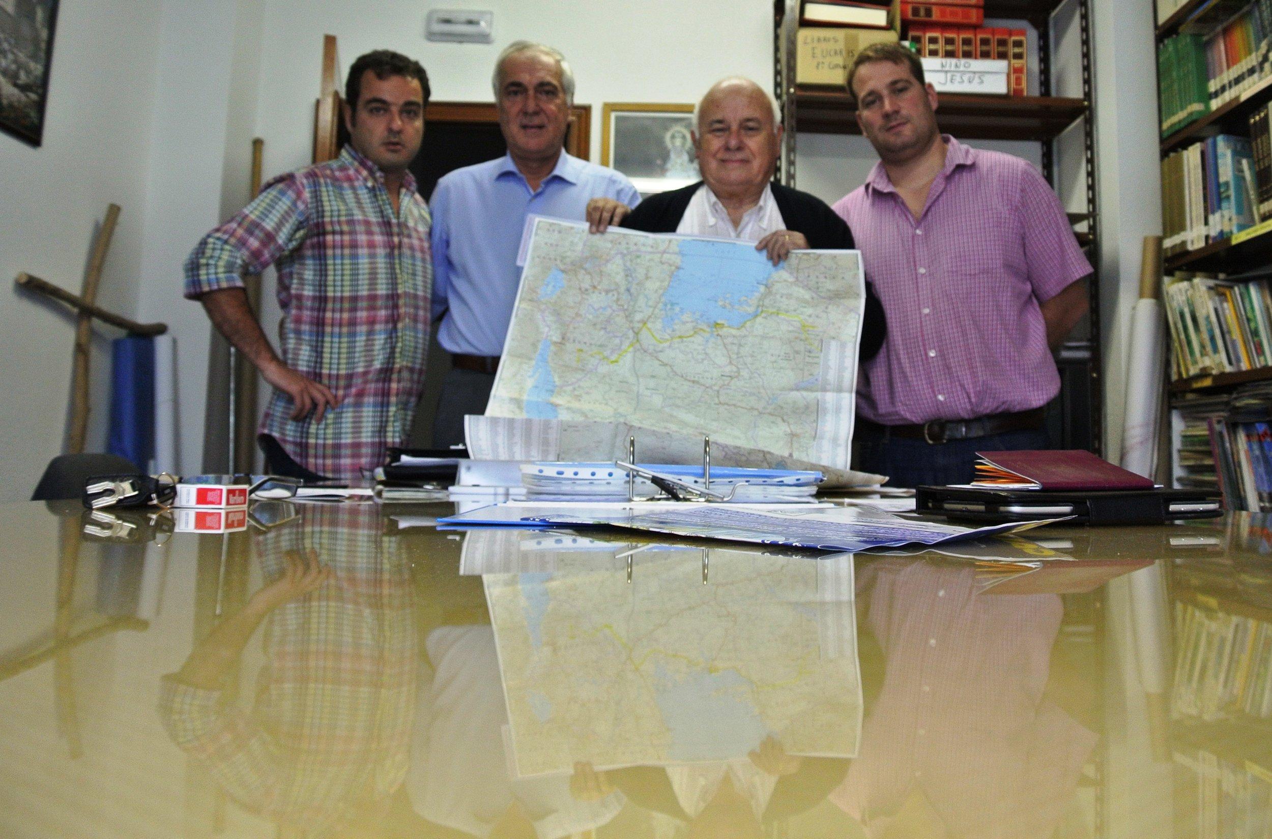 De izq a dcha, Javier Montes, Armando Menéndez, Fernando Fueyo y Juan Menéndez.JPG
