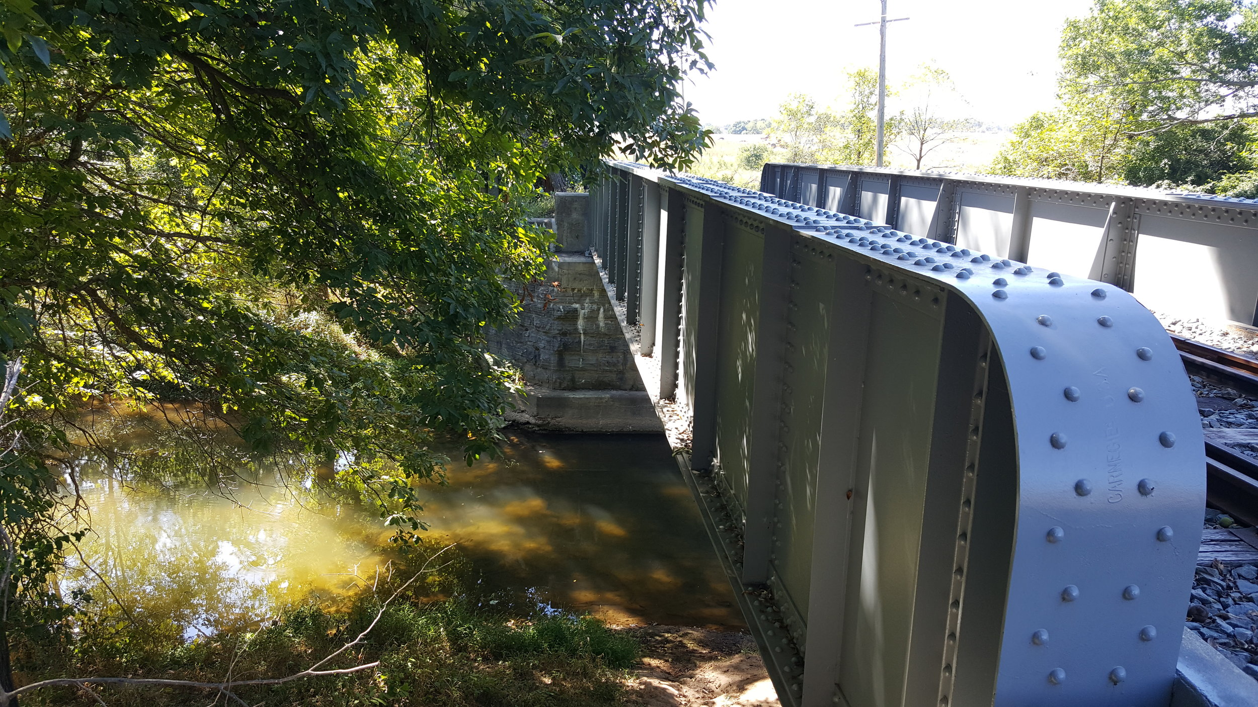 Rail bridge over the Monocacy River