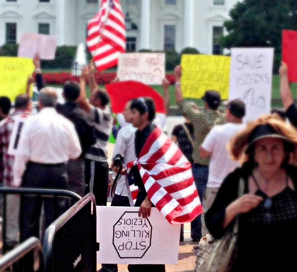 August 2014, a Yezidi rally at the White House in Washington D.C. My first encounter with Yezidi people.