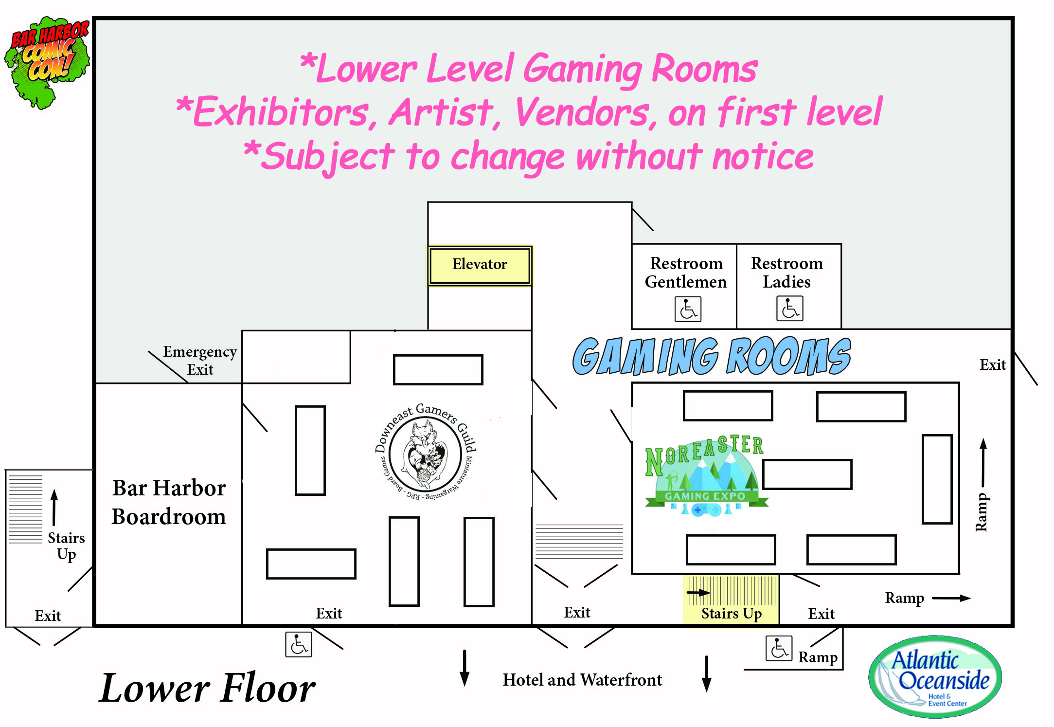 Floor Plan for Lower Level of Event Center.