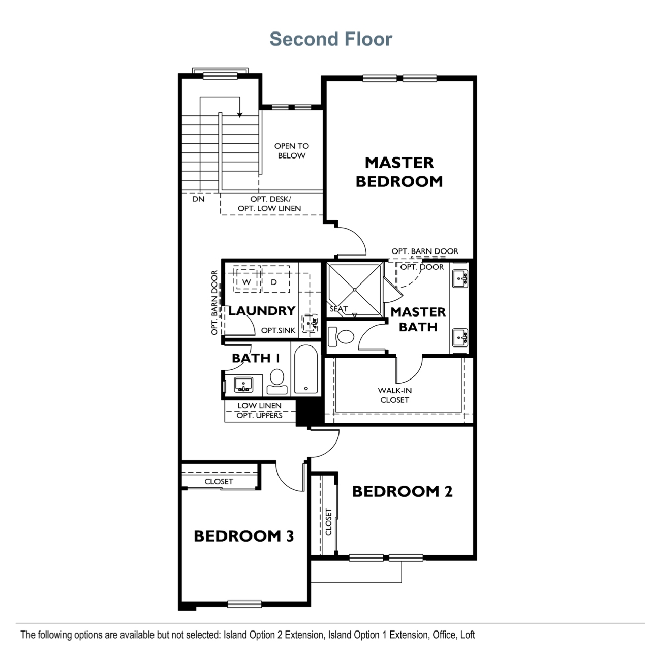 The Courts - Plan 1 - Second Floor