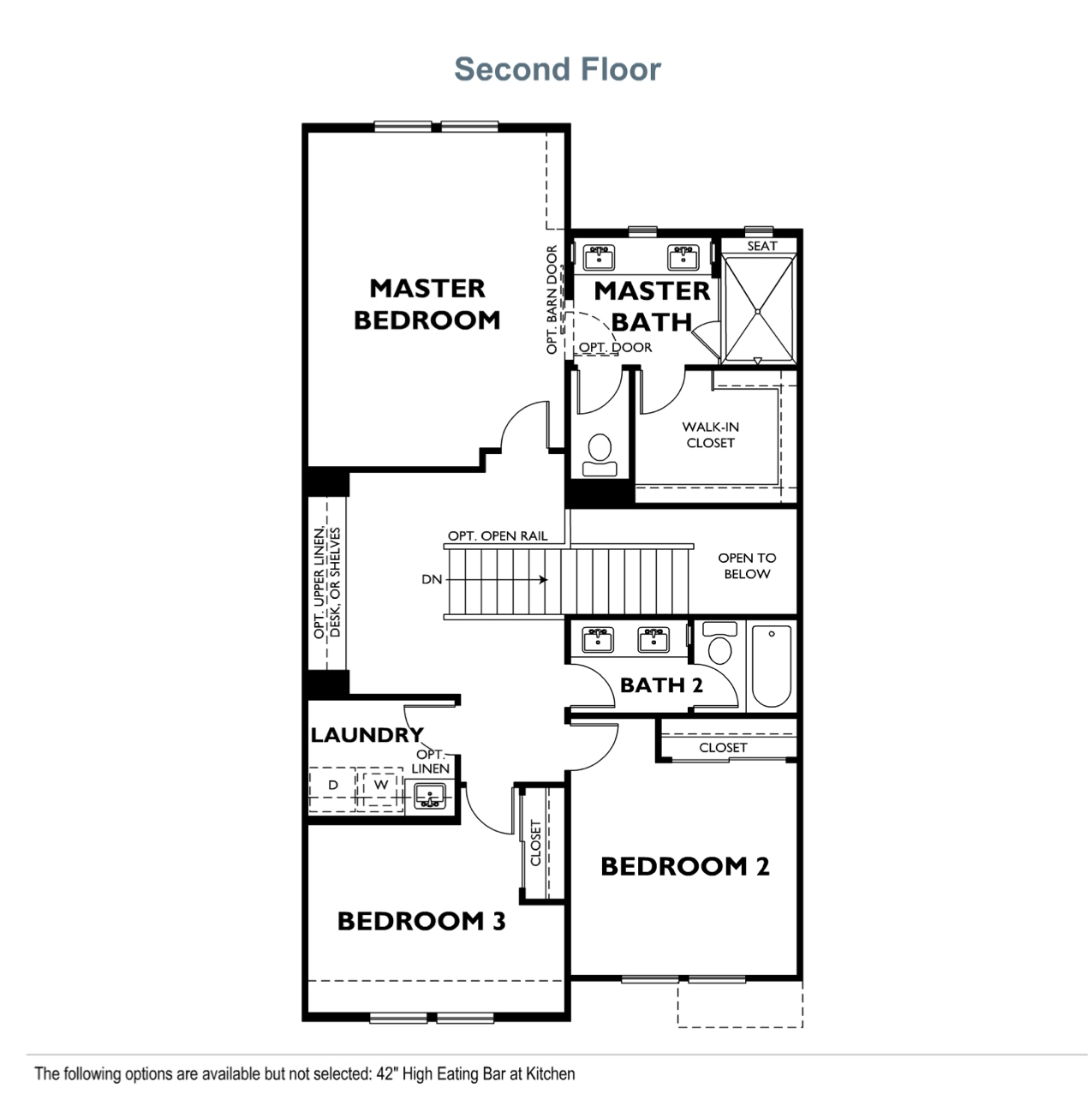 The Courts - Plan 2 - Second Floor
