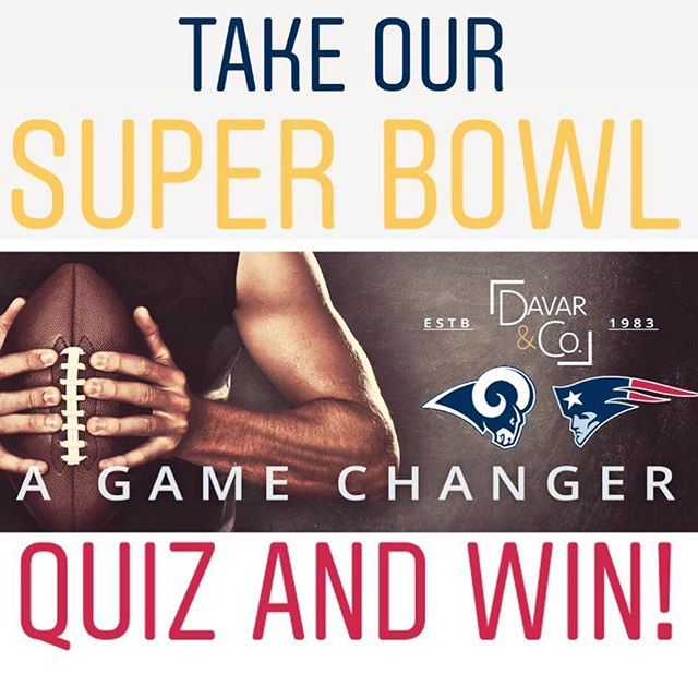 Hey Baker Ranch!  GET IN THE GAME!  Play along with us for a chance to win a $100 Gift Card 💵  Days away from the LA Rams 💙💛 taking on the New England Patriots 🏈 at the Super Bowl in Atlanta and WE ARE EXCITED!!!! 😁  2 Rules to Play: - Take our Super Bowl Quiz Today! - FOLLOW @yourbakerranch and @davarandco *Winner drawn at random from the top scoring entries.  Winner will be announced Sunday, February 3rd. 🤩  Warning ⚠️: Don't doddle through the quiz, you don't want to get a penalty flag for running out of time  Quiz Link in Bio and below: https://www.surveymonkey.com/r/SuperBowlQuizbyDavarandCo  #superbowl #superbowl2019 #superbowlquiz #davarandco #enjoyoc #larams #bakerranch #bakerranchlife #yourbakerranch
