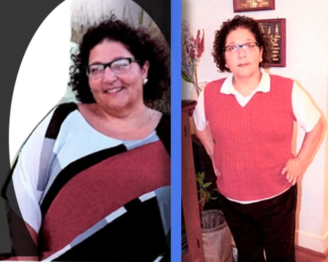 """Me two weeks on the program and 56 pounds later!"""