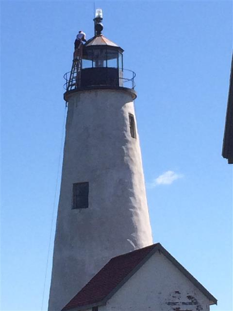Bakers Island Lighthouse partial reconstruction