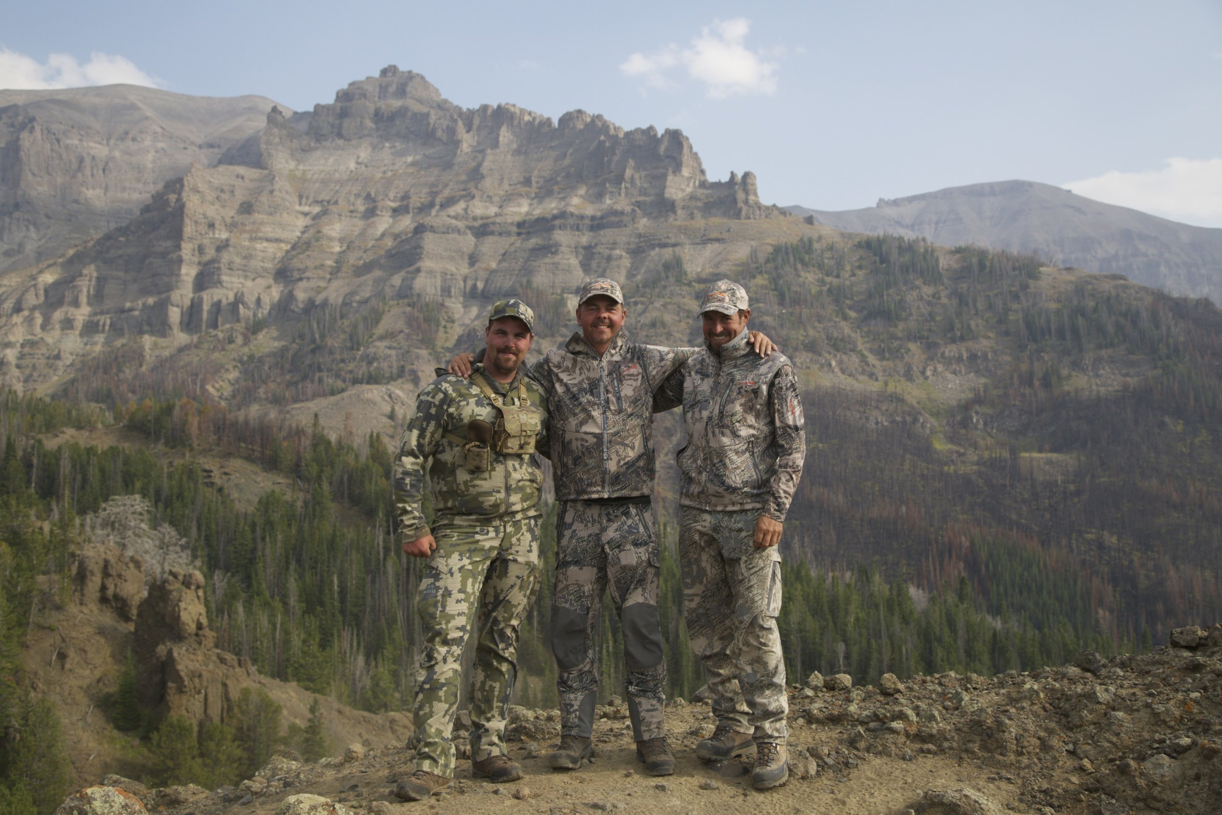 Tyler Ferris, Ron Nizolek, and Renowned Sheep Guide Chris Neilson on a Sheep Hunt in WY