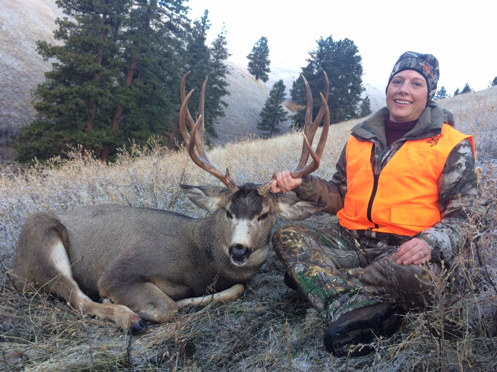 Amy with her First Ever Mule Deer