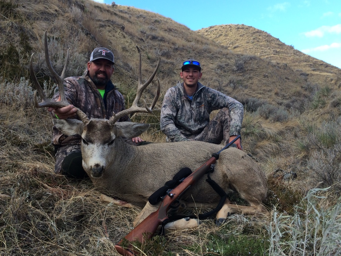 Justin with his First Trophy Mule Deer