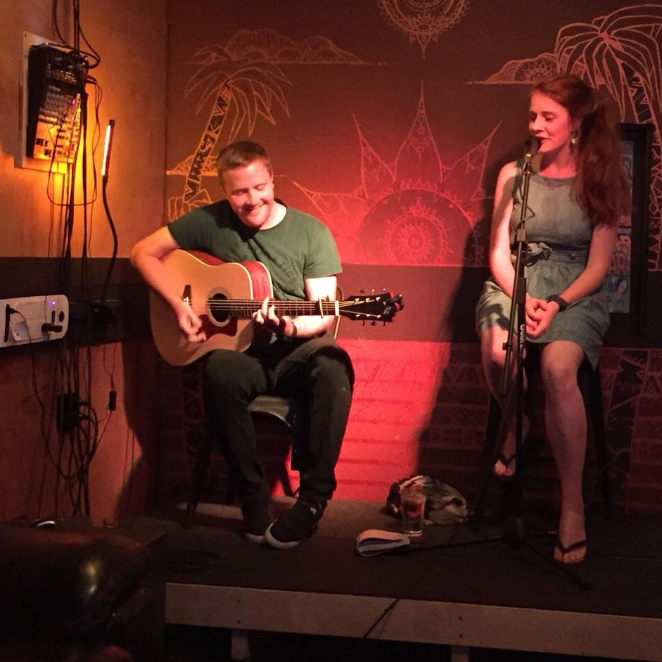 Myself and guitarist Calum Morrison performing a set in Zanzibar, Dunedin towards the end of our trip.