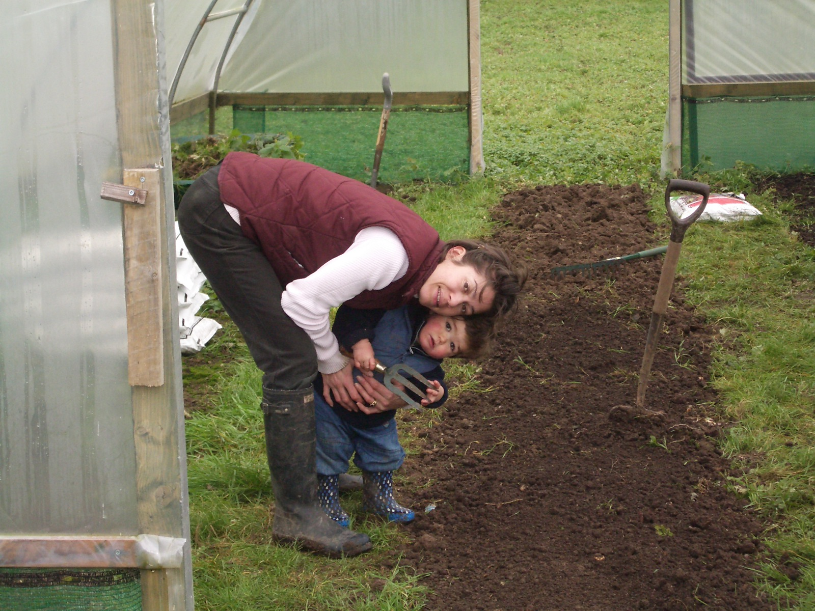 Building our first Polytunnel