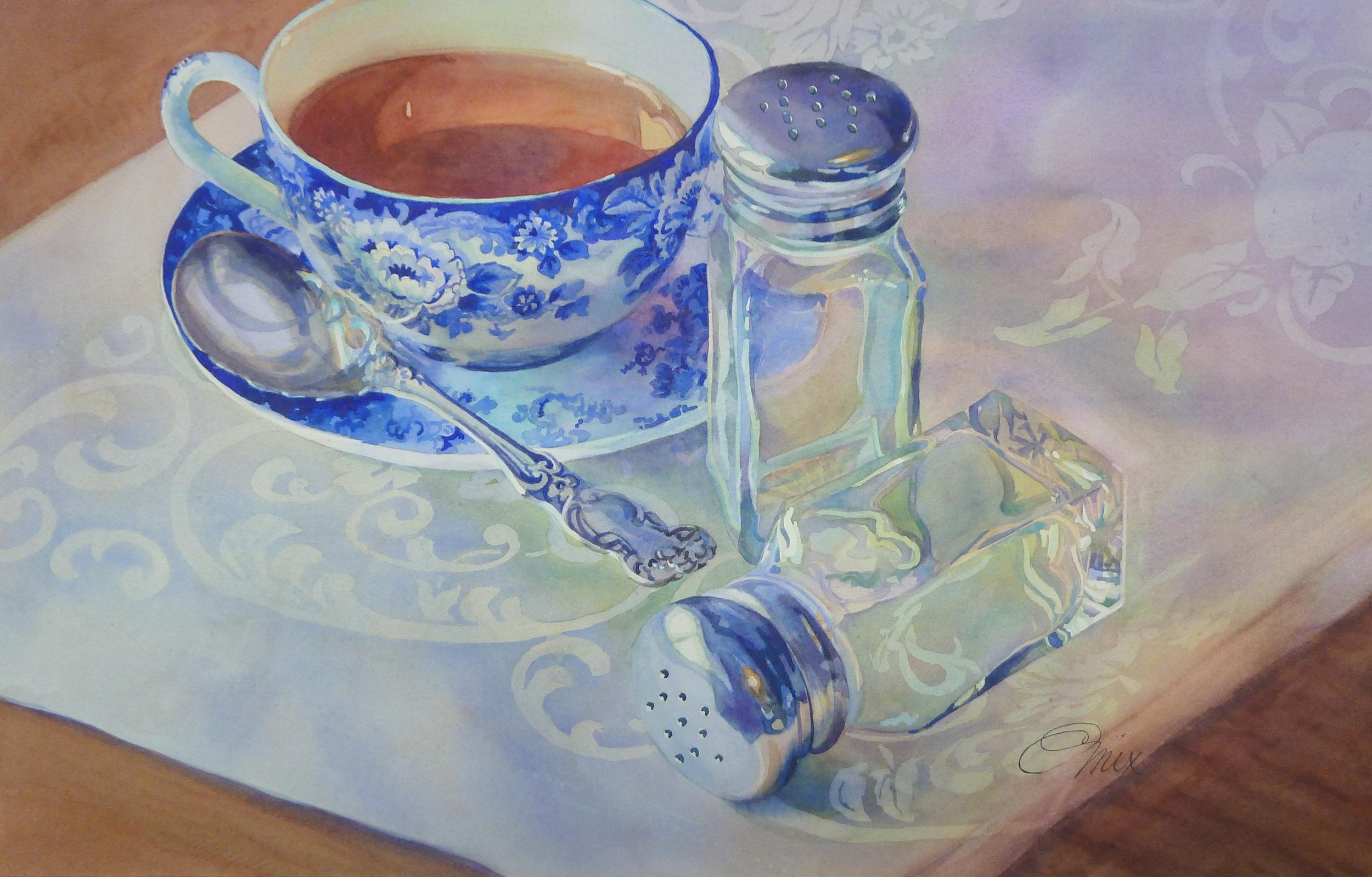 Grandmother's sugar spoon - watercolor